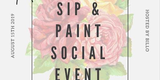 Sip & Paint Social Event