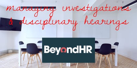 Managing Investigations & Disciplinary hearings (in conjunction with Viridor)   tickets
