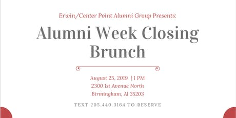 Erwin/Center Point Alumni Week Closing Brunch tickets