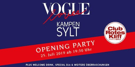 Vogue loves Kampen - 2019 Club Rotes Kliff - Tickets