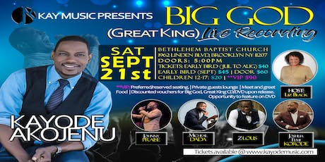 Big God (Great King) Live Recording tickets