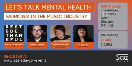 SAE EXTRA (GLA): Let's Talk Mental Health - Working in the Music Industry tickets