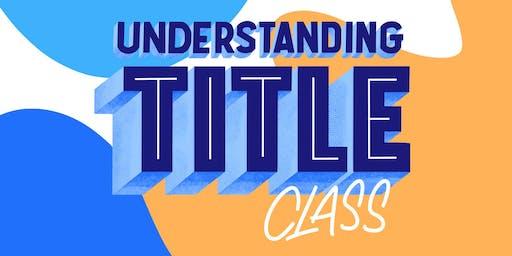November: Understanding Title