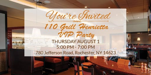 110 Grill Pre-Opening VIP Party