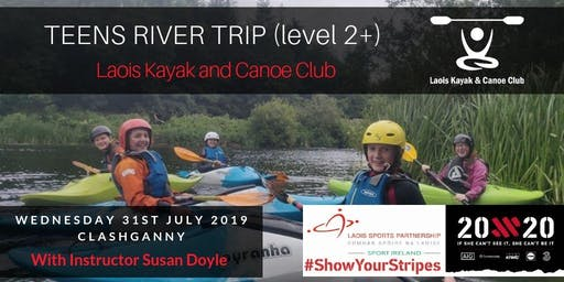 Female Teens Kayaking River Trip (level 2+)