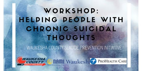 Helping People with Chronic Suicidal Thoughts - Stacey Freedenthal, PhD. tickets