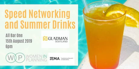 Women in Planning Glasgow Speed Networking and Summer Drinks tickets