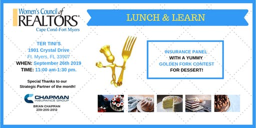 Insurance Panel & Golden Fork - Women's Council of REALTORS Cape Coral-Fort Myers