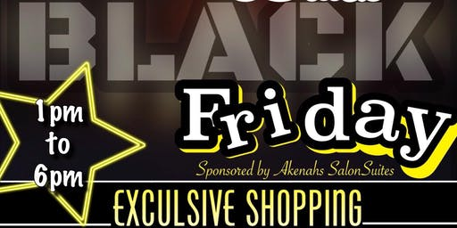 Black BLACK Friday Pop up SHOP