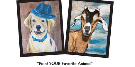 "Le Paint - Dip, Dab, Drink! ""Paint Your Favorite Animal"" tickets"