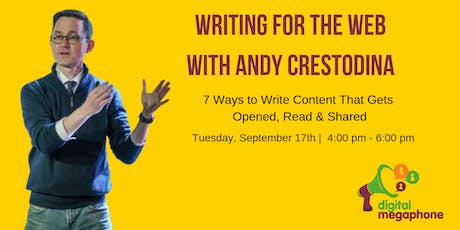 Writing for the Web 7 Ways to Write Content That Gets Opened, Read & Shared tickets