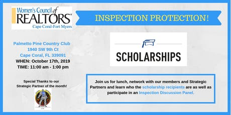 Scholarship & Inspection Panel - Women's Council of REALTORS Cape Coral-Fort Myers  tickets