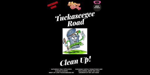 TUCKASEEGEE ROAD CLEAN UP!