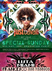 Just Cavalli Milano - Domenica 21 Luglio 2019 - Special Hip Hop Sunday - Aperitivo E Serata - Omaggio donna - Lista Miami - Liste E Tavoli Al 338-7338905 biglietti