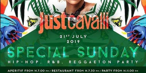 Just Cavalli Milano - Domenica 21 Luglio 2019 - Special Hip Hop Sunday - Aperitivo E Serata - Omaggio donna - Lista Miami - Liste E Tavoli Al 338-7338905