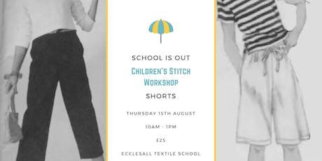 Children's stitch: short making tickets