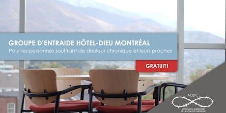 AQDC : Groupe d'entraide Hôtel-Dieu - 19 octobre 2019 billets