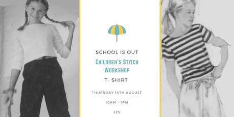 Children's stitch: t-shirt making tickets