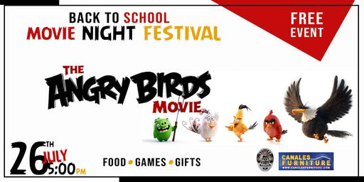 Angry Bird Back to School Movie Night Fest (Ferris)