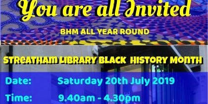 Streatham Library Black History Month - Hosted by NU9 Empire Network