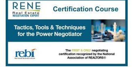 RENE- Real Estate Negotiation Expert  10/7-8/2019 tickets