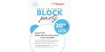 Staples Back to School Block Party