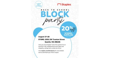 Staples Back to School Block Party tickets
