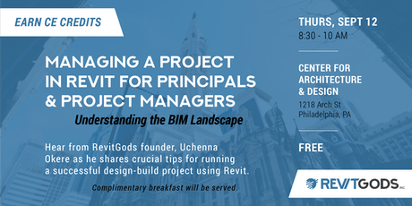 Managing a Project in Revit for Principals & Project Managers tickets