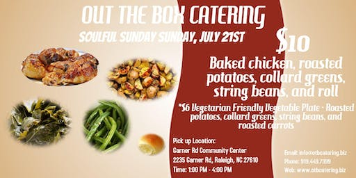 Out the Box Catering Soulful Sunday Pop-Up