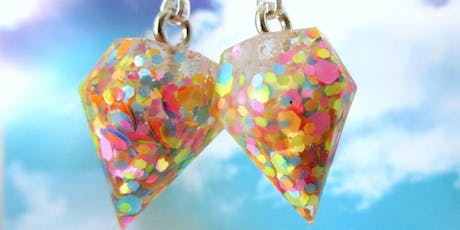 Resin Jewellery with Planet Peach tickets