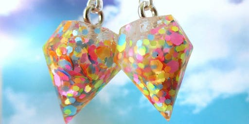 **SOLD OUT** Resin Jewellery with Planet Peach