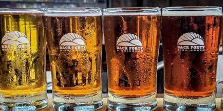 Beer Tasting with Back Forty Brewing in Bayside Grill Restaurant