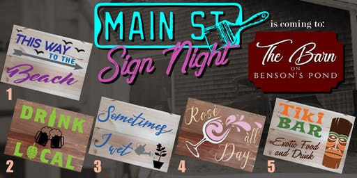 Sign Night at The Barn on Benson's Pond!