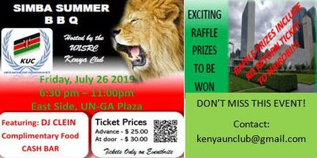 Kenya Club - Simba Summer BBQ tickets