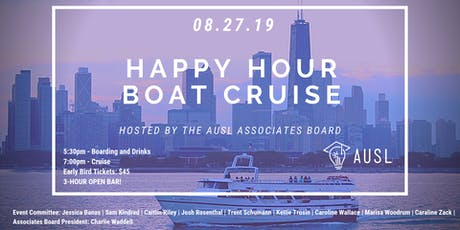 AUSL's Associates Board Happy Hour Boat Cruise tickets