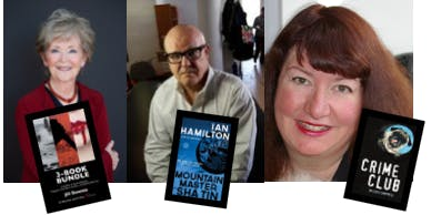 Mystery Writers Melodie Campbell, Ian Hamilton & Jill Downie