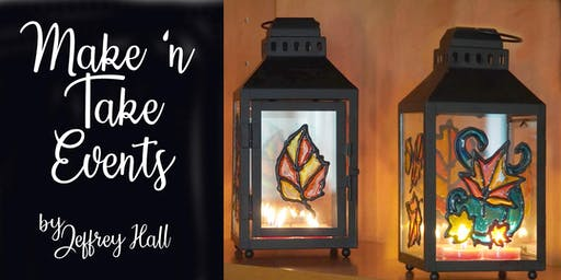 Make N Take Event - Stained Glass Lantern - Easton Wine Project