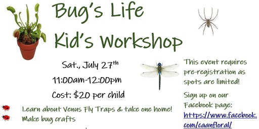 Bug's Life Kid's Event