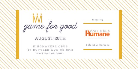 Game for Good: Columbus Humane tickets