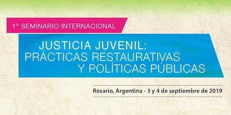 """1º Seminario Internacional: """"Prácticas Restaurativas y Políticas Públicas"""" entradas"""