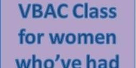 """BWH Parent Ed Classes """"VBAC"""" Course for parents who have had a caeasarean tickets"""