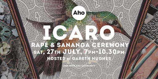 ICARO : Rapé & Sananga Ceremony hosted by Gareth Hughes