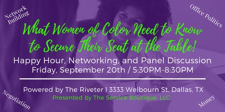 Women Of Color Leadership Series - Secure Your Seat at the Table! tickets