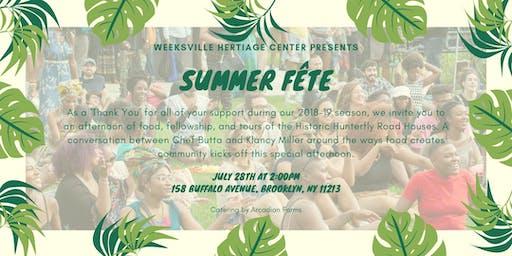 Weeksville Heritage Center Summer Fête