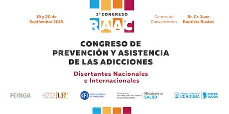 3° Congreso de la Red Asistencial de las Adicciones de Córdoba - 2019 entradas