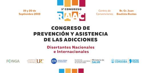 3° Congreso de la Red Asistencial de las Adicciones de Córdoba - 2019