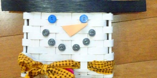 Snowman Wall Basket
