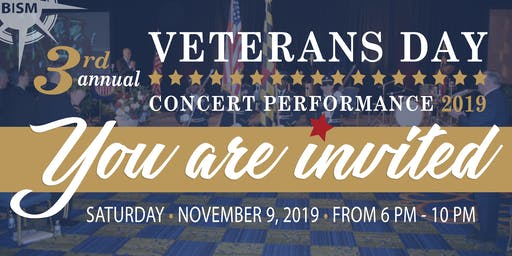 3rd Annual Veterans Day Concert Performance 2019