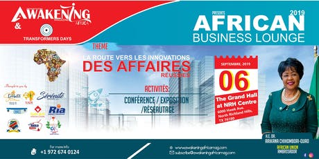 AFRICAN BUSINESS LOUNGE WITH AU AMBASSADOR tickets