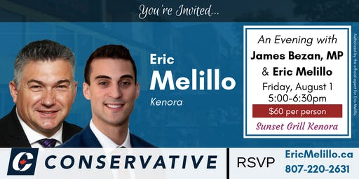 An Evening with James Bezan, MP and Eric Melillo